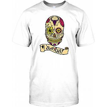 Mexikanischen Sugar Skull - Kinder Arriba-T-Shirt