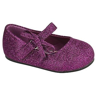 Spot On Childrens/Toddlers Girls Glitter Bow Strap Shoes
