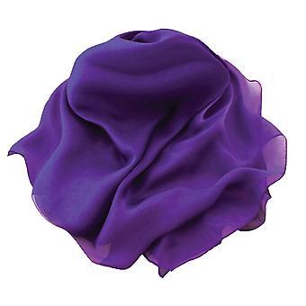 永遠のコレクション平野紫の長方形の純粋な絹シフォン スカーフ