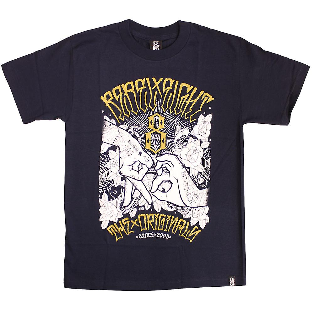 Rebel8 Hand tekenen T-shirt Navy