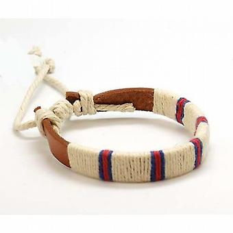 The Olivia Collection Textile Taping Leather Bracelet 7