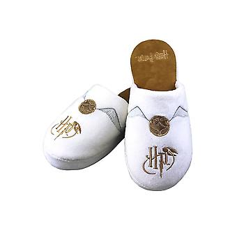 Harry Potter Golden Snitch Adult Mule Slippers  - ONE SIZE