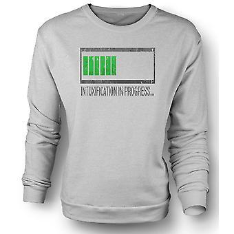 Womens Sweatshirt Intoxification In Progress - Funny