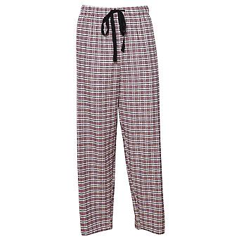 Cyberjammies 6407 Uomini's Joseph Burgundy Red Mix Check Cotton Pyjama Pant