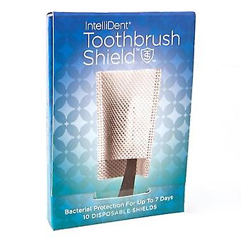 Intellident antimicrobial toothbrush shields, 10 ea