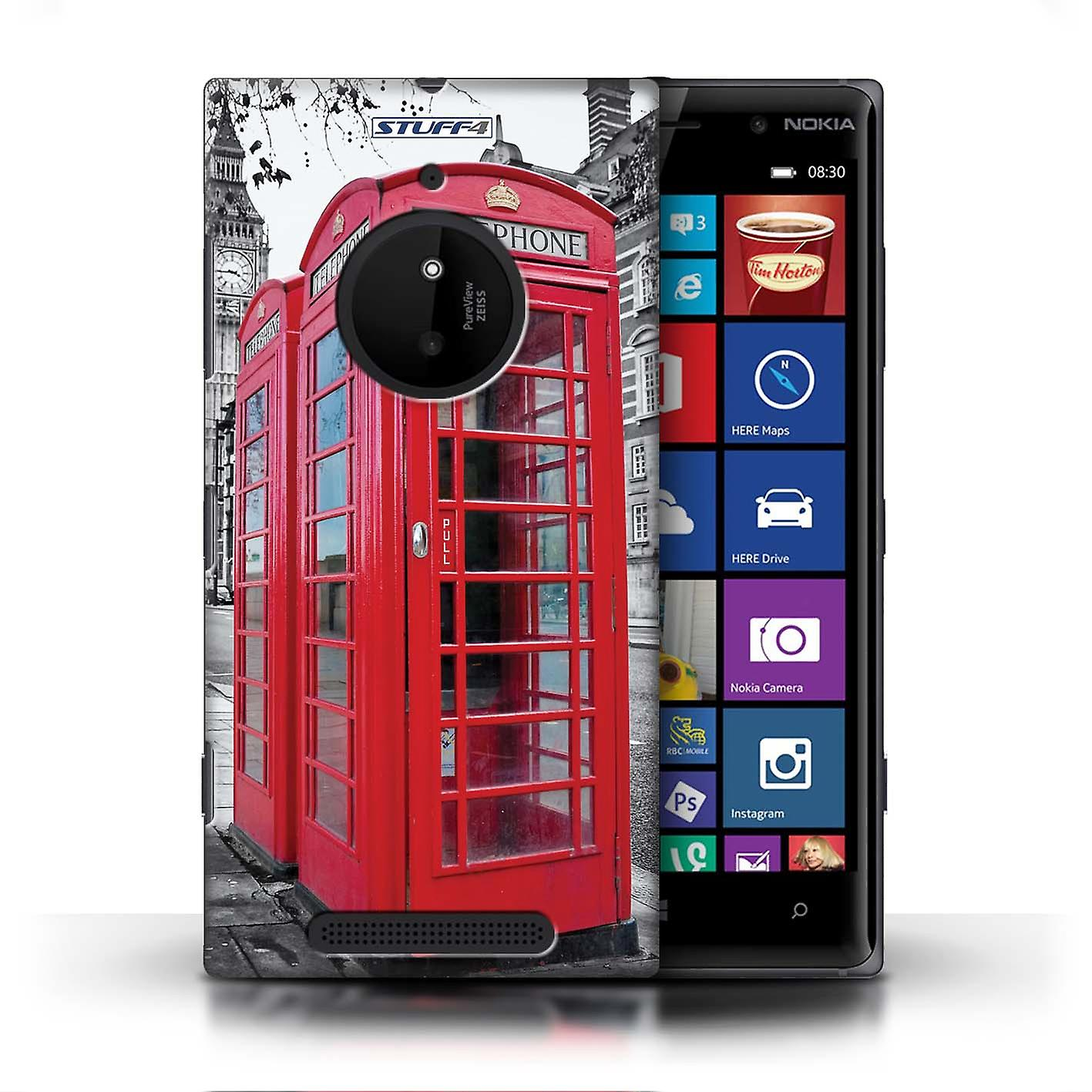 Stuff4 Case Cover For Nokia Lumia 830 Red Phone Box London