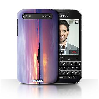 STUFF4 Case/Cover for Blackberry Classic/Q20/Blue Lagoon/Sunset Scenery