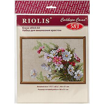 Cosmos Counted Cross Stitch Kit-11.75