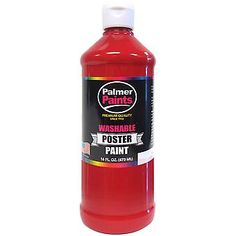 Washable Poster Paint 16oz-Red WP16OZ-226