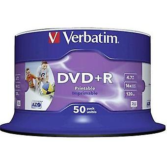 Blank DVD+R 4.7 GB Verbatim 43512 50 pc(s) Spindle Printable