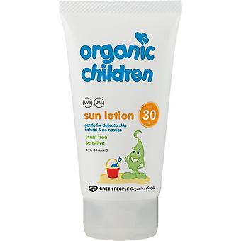 Green People Organic Scent Free Children Sun Lotion SPF30