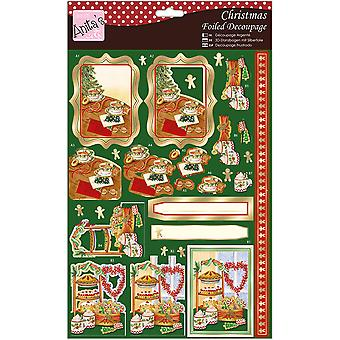 Anita's A4 Foiled Decoupage Sheet-Festive Treats A169695