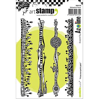 Carabelle Studio Cling Stamp A6-Peas Strip SA60186