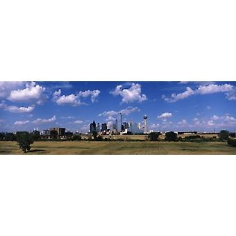 Skyline Dallas TX USA Poster Print
