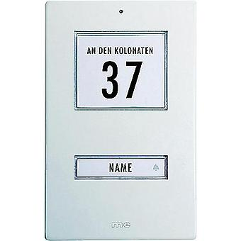 Bell panel backlit, with address field, with nameplate m-e modern-electronics KT 1-AW White 12 V/1 A
