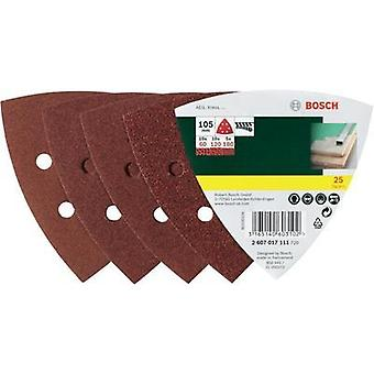 Delta grinder blade Hook-and-loop-backed, punched Grit size 240 Width across corners 93 mm Bosch Promoline 2607017110 2
