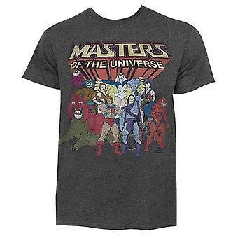 He-Man Masters Of The Universe Dark grå tegn Logo Tee Shirt