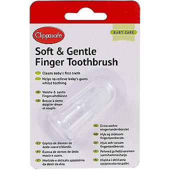 Clippasafe Soft & Gentle Finger Toothbrush