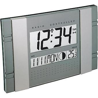Radio Wall clock Techno Line 02666 WS 8001 290 mm x 25 mm x 190 mm Grey