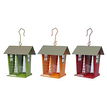 Contemporary Wild Bird Seed & Fatball House Feeder Argyll