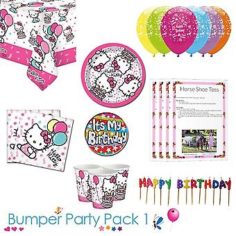 Hello Kitty Party Tableware Bumper Pack 1