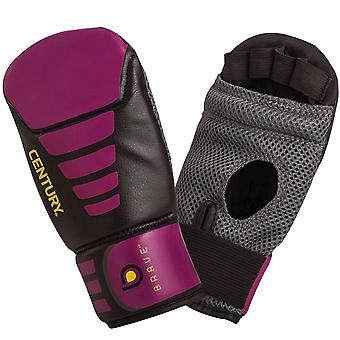Century Women's Brave Lightweight Slip-On Boxing Bag Gloves - Black/Pink