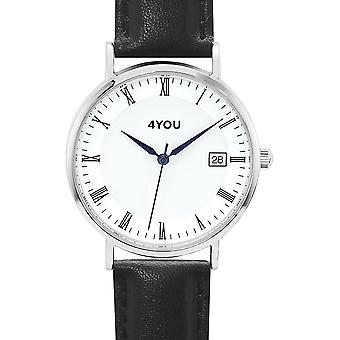 4YOU Herre ur wrist watch analog quartz syntetisk læder 250001003