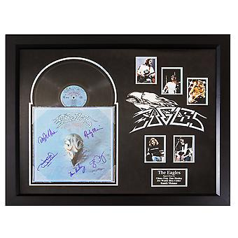 Eagles Greatest Hits 1971-1975 bandet signerade Album anpassad inramade