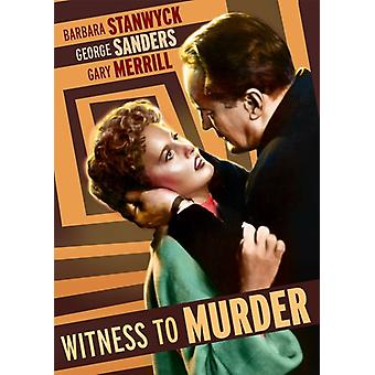Witness to Murder [DVD] USA import