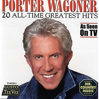 Porter Wagoner - 20 alle tid Greatest Hits CD] USA importerer