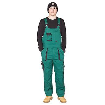 Portwest Texo Contrast Work Dungarees (Green) Mens Work Bib Overalls Industrial