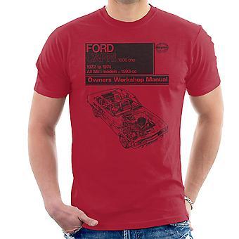 Haynes Workshop Manual Ford Capri 1600 OHC Black Men's T-Shirt