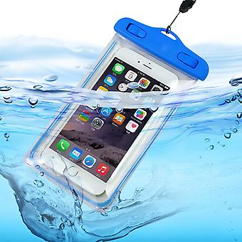 ONX3 (Baby Blue) Asus Zenfone 2E Universal Durable Underwater Dry Bag, Touch Responsive Transparent Windows, Watertight Sealed System Pouch