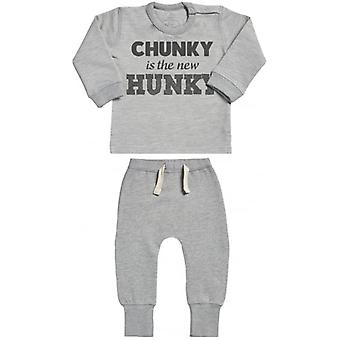 Spoilt Rotten Chunky New Hunky Sweatshirt & Leggings Baby Outfit Set