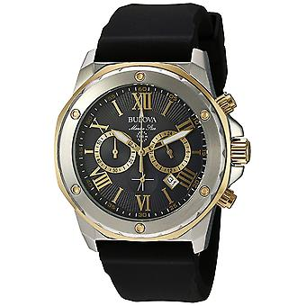 Bulova Silicone Chronograph Mens Watch 98B277