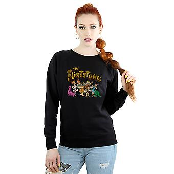 The Flintstones Women's Group Distressed Sweatshirt
