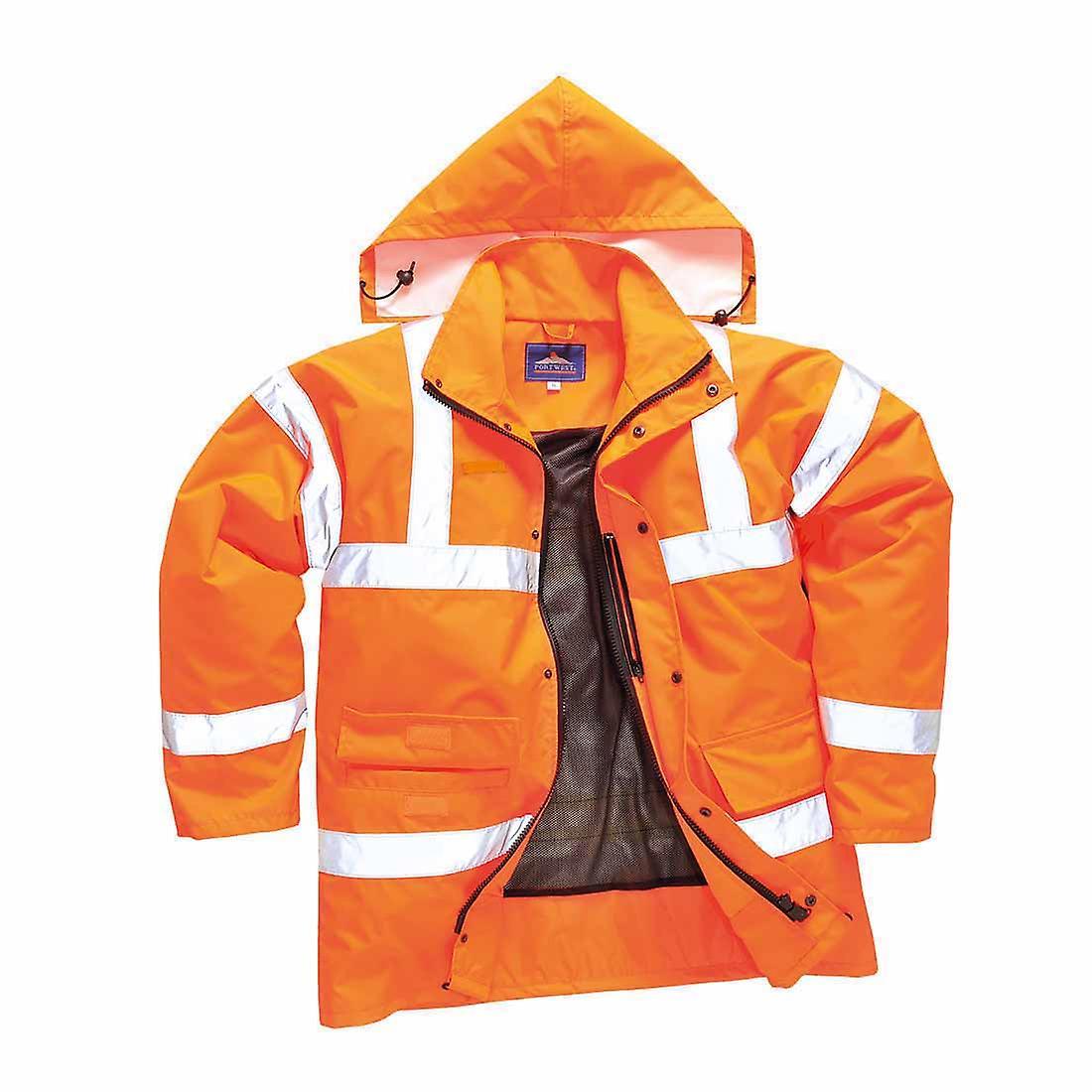 Portwest - Hi-Vis Safety Workwear Breathable Traffic Rail Track Side Jacket