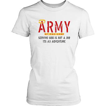 Damen T-shirt DTG Print - Army Of The Lord - Gott dienen - Religion - lustig