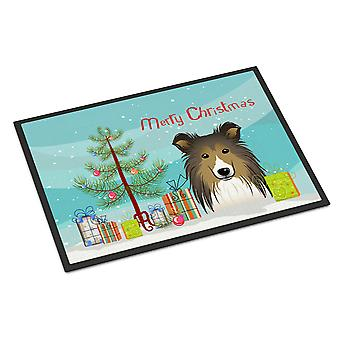 Christmas Tree and Sheltie Indoor or Outdoor Mat 24x36