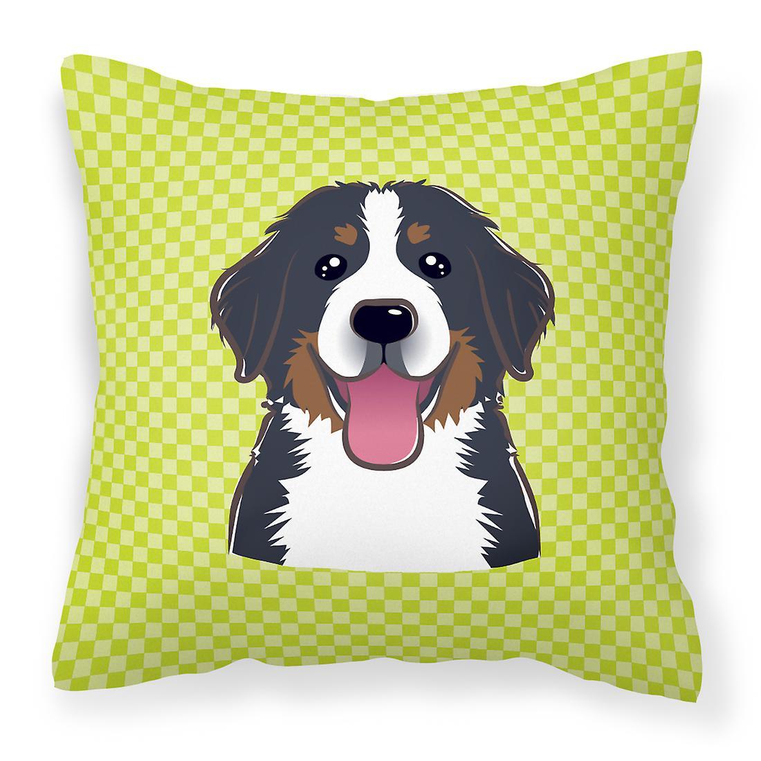 Tissu Bernese Green Décoratif Dog Damier Mountain Oreiller Lime Toile rdxhQosCtB