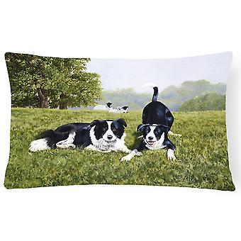 Let's Play Border Collie Fabric Decorative Pillow