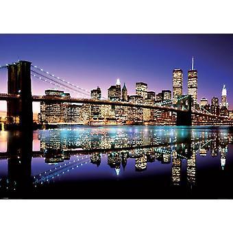 NYC Brooklyn Bridge  Poster Poster Print