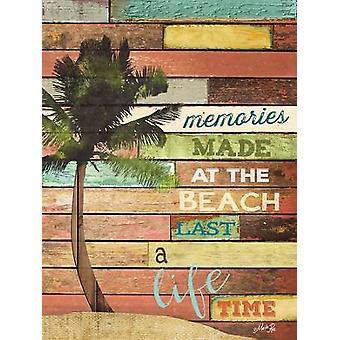 Beach Memories Poster Print by Marla Rae (12 x 16)