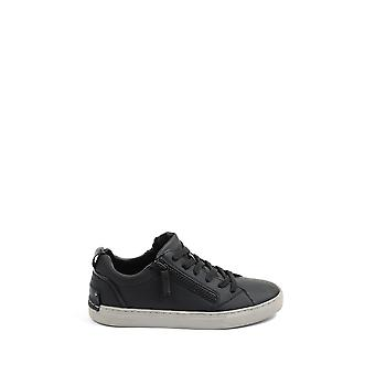 Crime London Herren 1132020 Schwarz Leder Sneakers