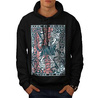King Skulls Dead Gamble Men BlackHoodie | Wellcoda