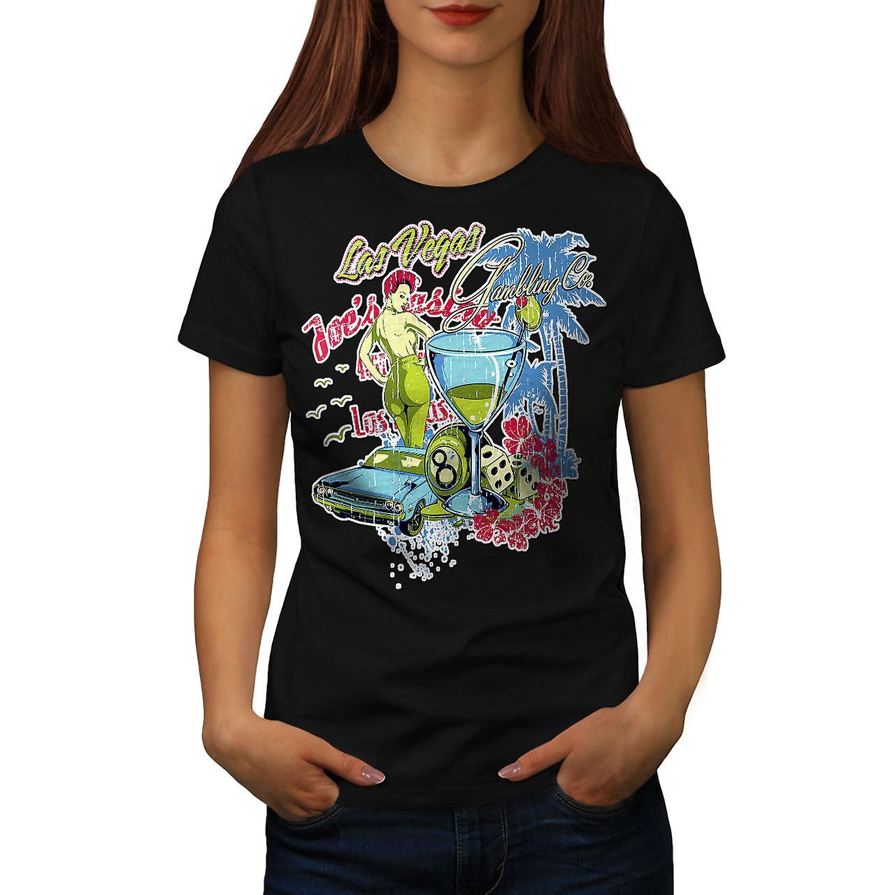 Las Vegas Casino Game Women Black T-shirt | Wellcoda