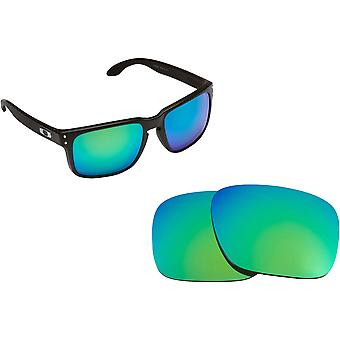 Best SEEK Polarized Replacement Lenses for Oakley HOLBROOK Jade Green Mirror