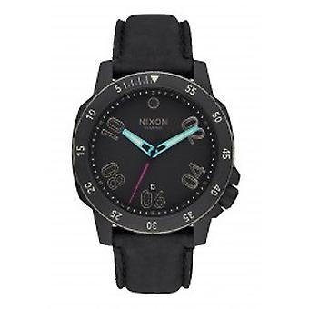 Nixon The Ranger Leather All Black / Multi Herrenuhr (A5081320)