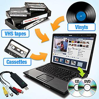 QuickCapture VHS/Tape/Vinyl to DVD/CD Converter