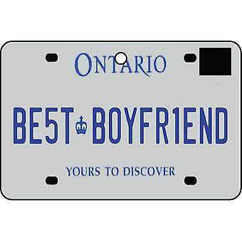 ONTARIO - Best Boyfriend License Plate Car Air Freshener